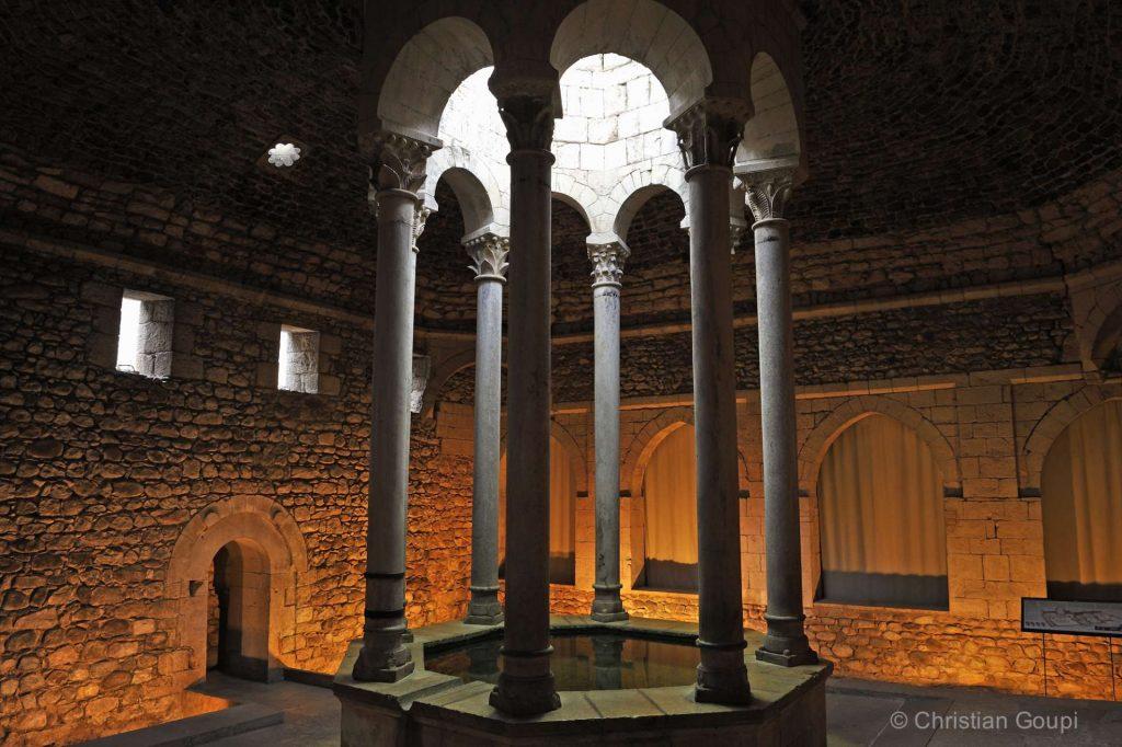 Espagne - Gerone - Tableau orientaliste aux Bains arabes