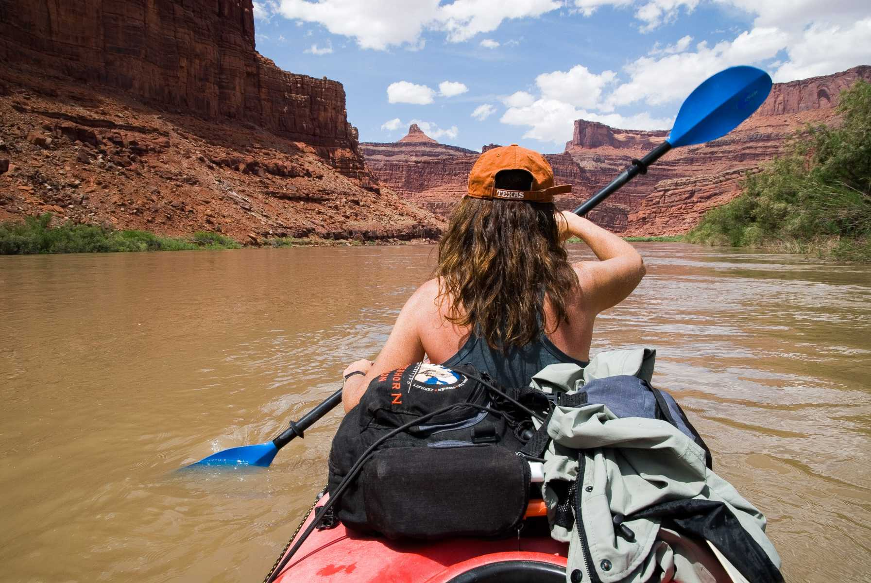 Etats-unis - Parcs de l'Utah - Descendre le Colorado en kayak, au coeur de Canyonlands National Park : un trip mythique sur les traces du Major Powell.