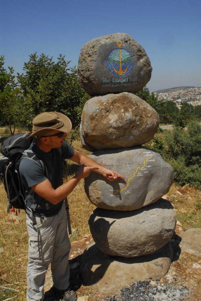 Israel - Galilée - Impossible de manquer les cairns qui balisent le Gospel Trail.