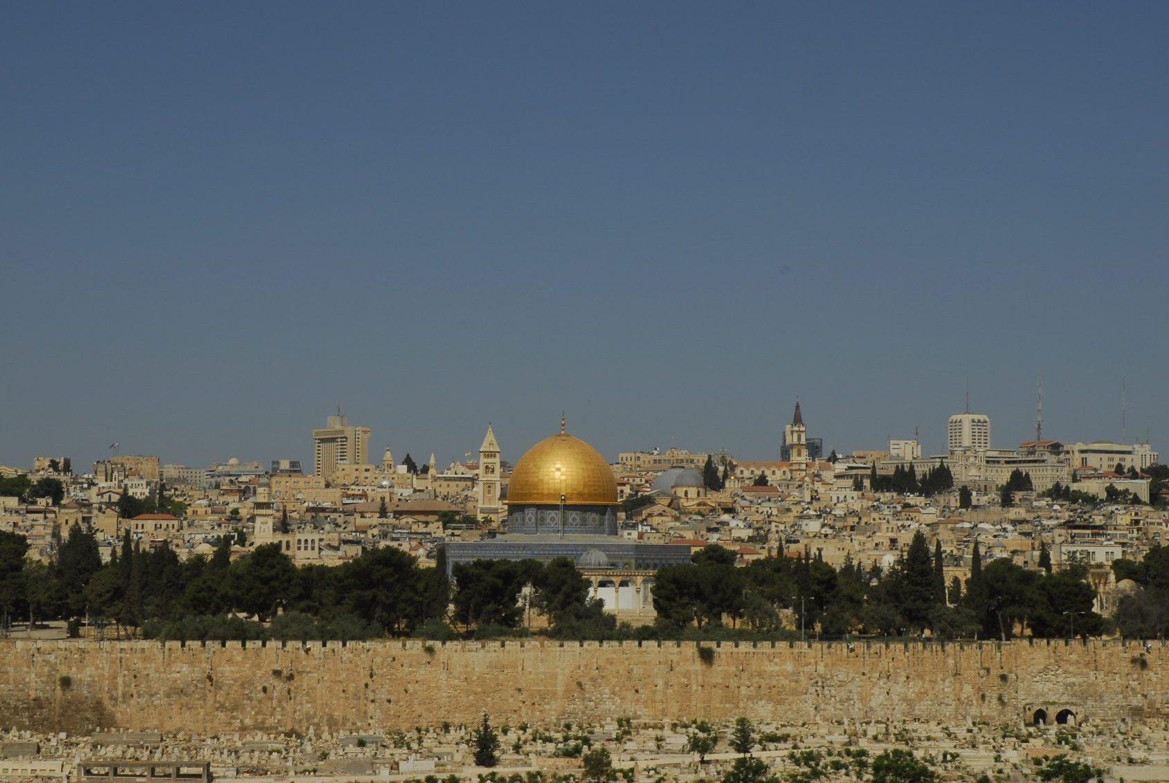 Israel - Galilée - Parce qu'en Israël, tous les chemins finissent toujours par mener à Jérusalem, vue depuis le Mont des Oliviers.