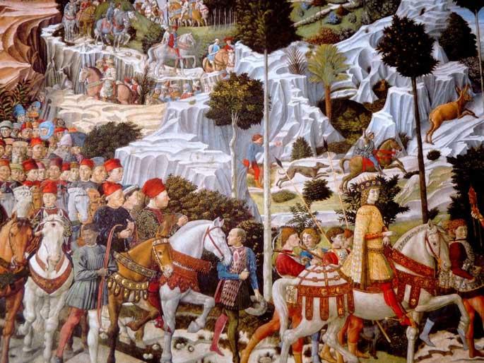 Italie - Renaissance - Arrivée Des Mages Gozzoli à Florence