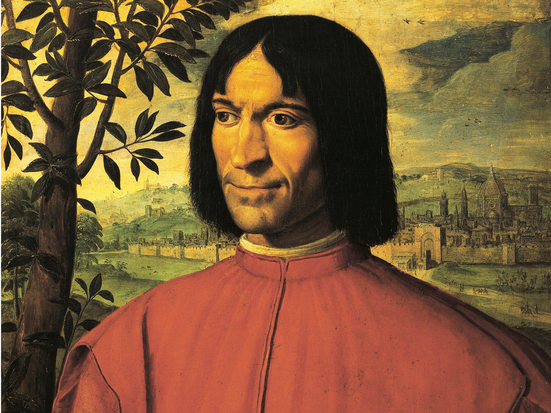 Italie - Renaissance - Portrait de Laurent de Medicis par Girolamo Macchietti 1585