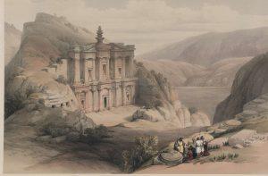 Jordanie - Petra - El Deir - Tableau de David Roberts