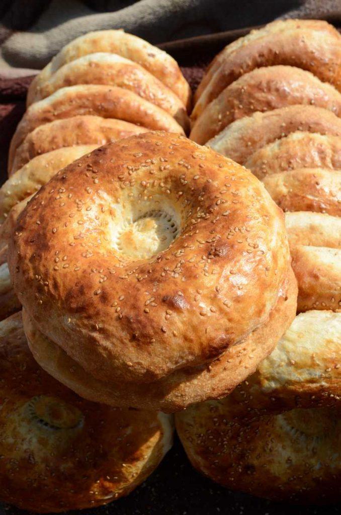 Ouzbekistan - Le sim sim, le pain traditionnel au sésame