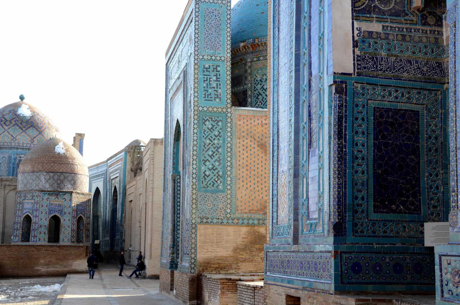 Ouzbekistan - Mausolées et mosaïques au cimetière Chahi-Zinda (XIIIe siècle) de Samarcande