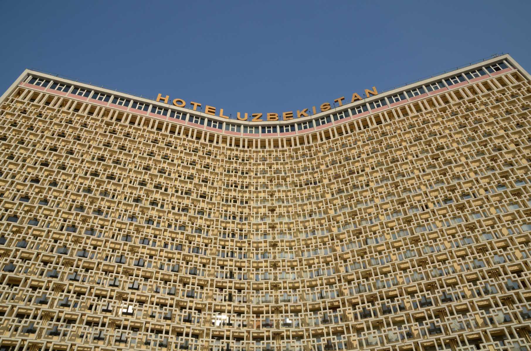 Ouzbekistan - Le look soviétique de l'hôtel Uzbekistan à Tachkent