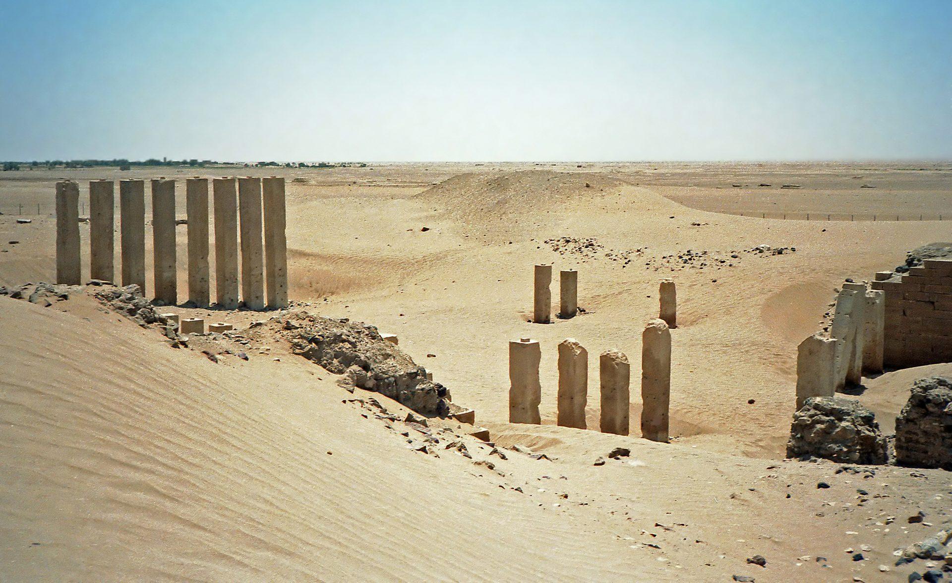Le temple d'Awwam, enfoui dans les sables de l'oasis de Marib, au Yémen, serait un vestige de l'ancienne capitale de la reine de Saba.