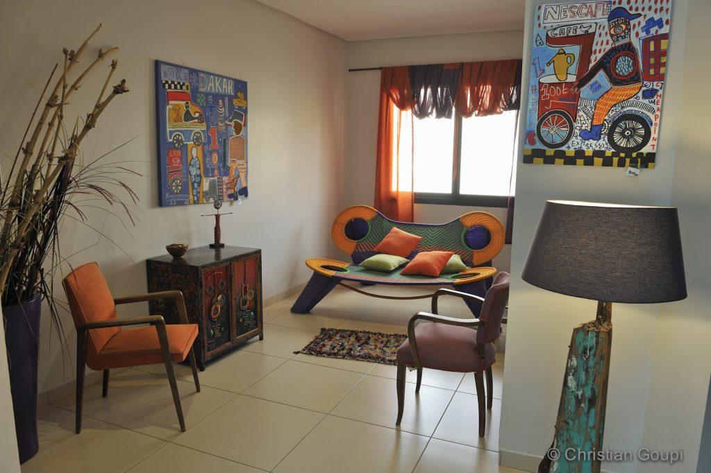 Sénégal - Dakar - Escale arty à la Villa 126 - Maison d'hôtes - Mobilier arty