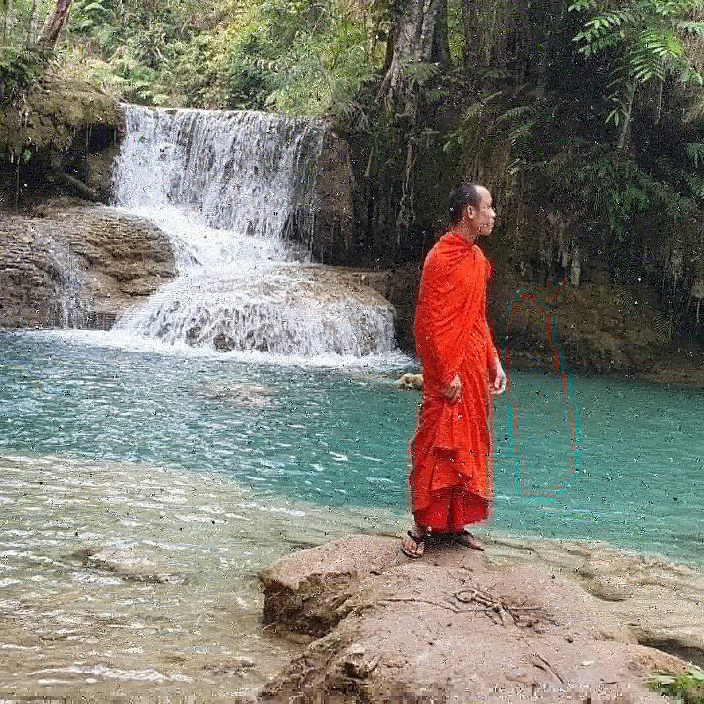 Les cascades de Kung Si au Laos parce que c'était beau, paisible et coloré. Photo Christine Ducros