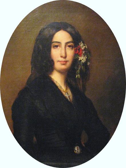 Portrait de George Sans par Auguste Charpentier (1838), collection Musée de la Vie Romantique de Paris