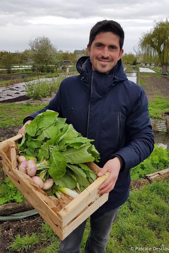 Guillaune Lajoingie, jardinier d'eau au Goût du Marais, Marais de Bourges, Berry