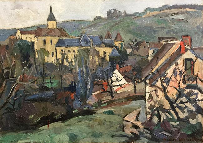 Le village de Gargilesse, dans la vallée de la Creuse, par le peintre franco-suédois Anders Osterlind