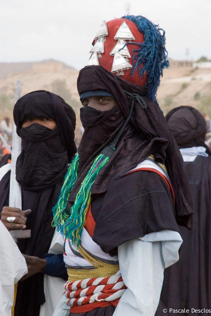 Fête Touareg de la Sebeiba à Djanet, porte d'entrée du parc national du Tassili N'Ajjer, sud Algérie