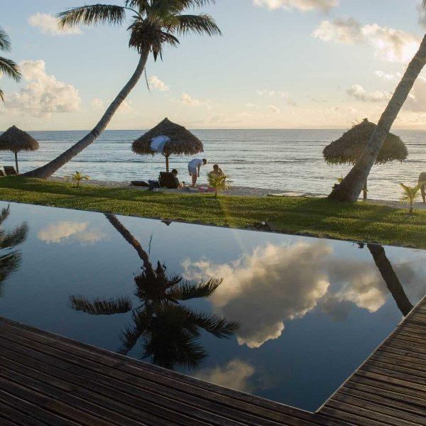 Afrique - Madagascar- Sainte-Marie - La piscine du Princesse Bora Lodge & Spa