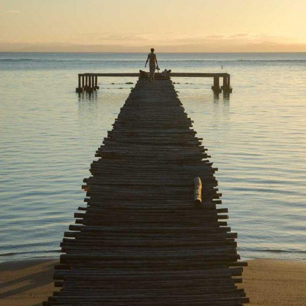 Afrique - Madagascar- Sainte-Marie - Le ponton sur l'océan des Villas de Vohilava