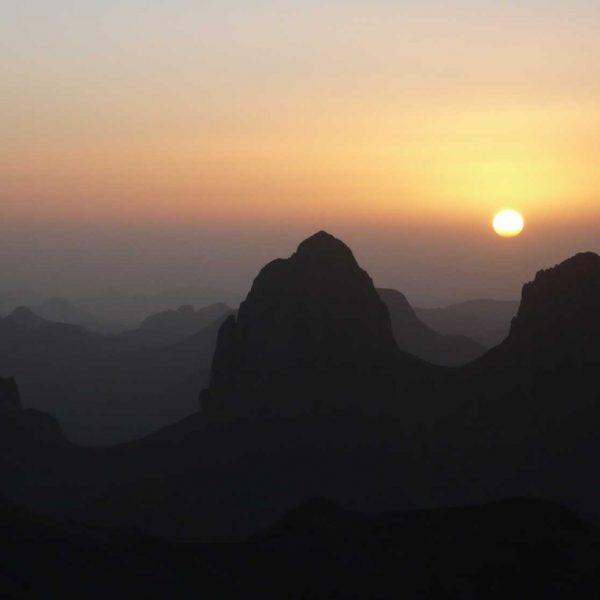 Algérie - Atakor - Coucher de soleil depuis L'Assekrem.