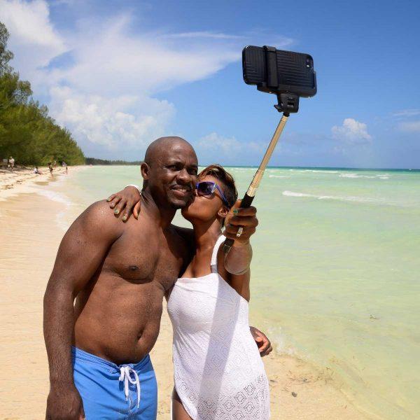 Bahamas - Selfie de rigueur à Goldrock Creek