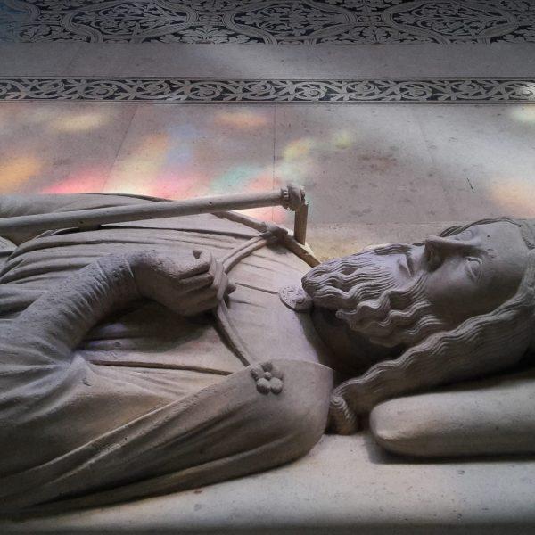 Dagobert, le premier roi enterré à la basilique, en 639