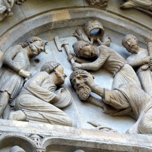 Le martyr de Saint-Denis, portail Nord