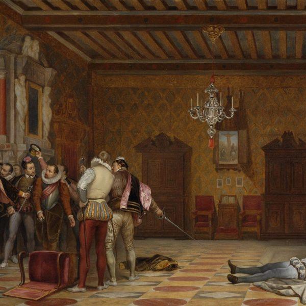 La plus célèbre représentation de l'Assassinat  du Duc de Guise par Paul Delaroche date de 1835.