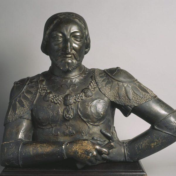 Buste en plâtre de François 1er.