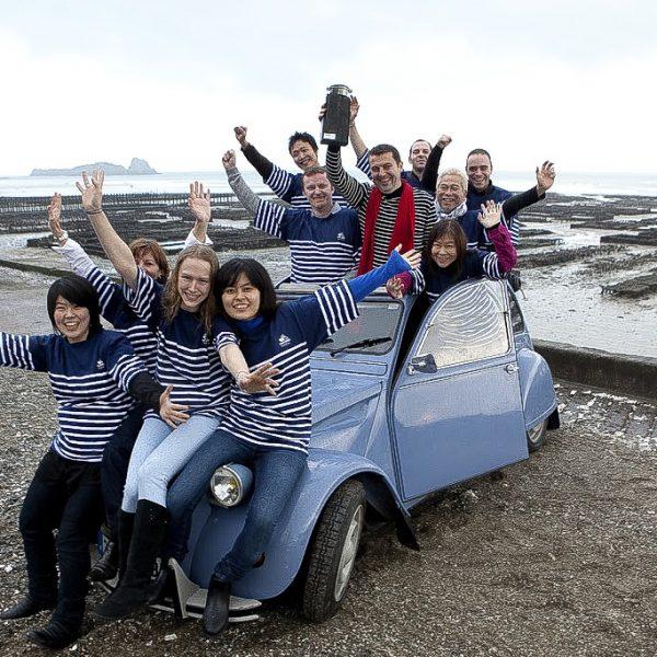 L'équipe du Breizh Café autour de Bertrand Larcher en Bretagne