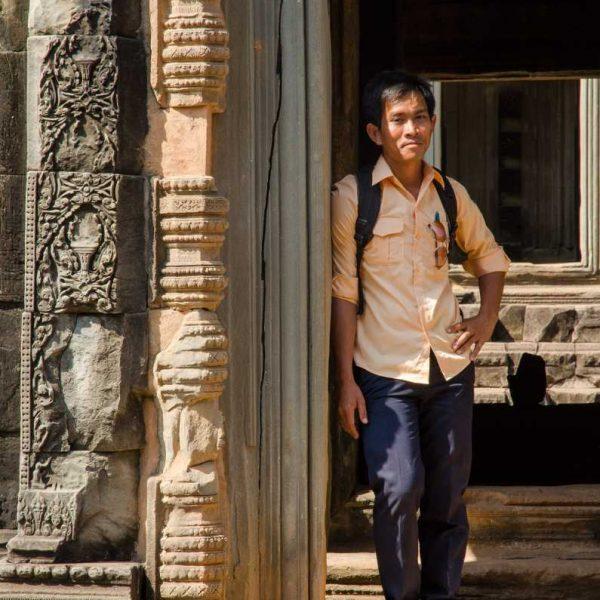 Hai, notre jeune et érudit guide au pays d'Angkor