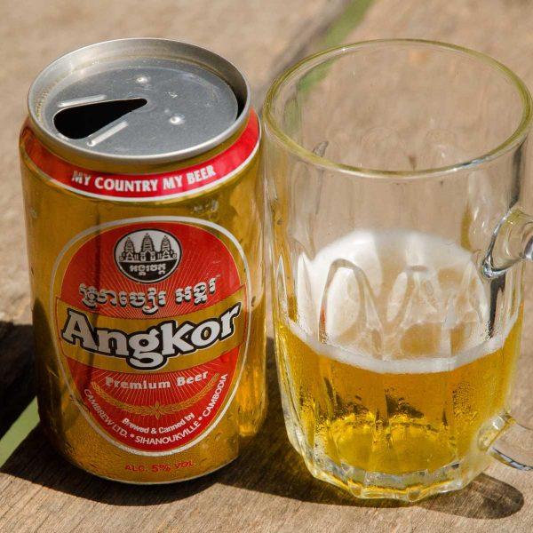 Cambodge - Angkor - La bière locale, à l'effigie du grand temple d'Angkor-Wat