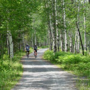 Canada Québec Saguenay - Balade vélo dans le Parc national de La Pointe-Taillon