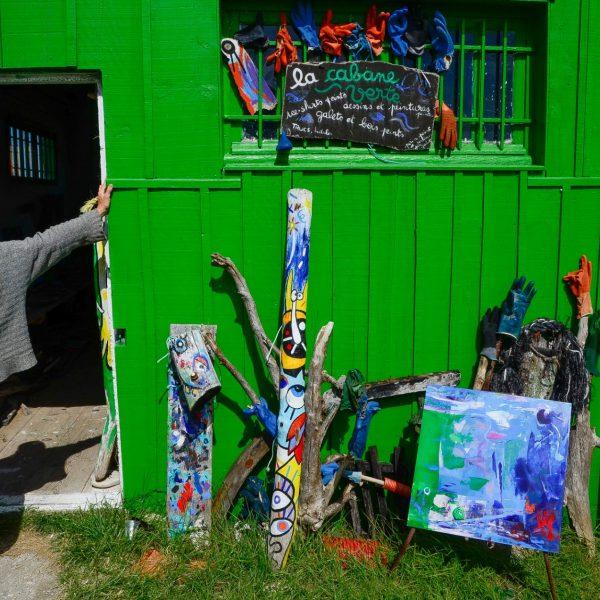 Cabane d'artiste sur le chenal de la Baudissière