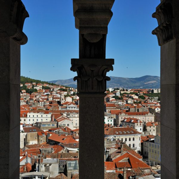 Les toits de Split depuis les colonnes de la cathédrale