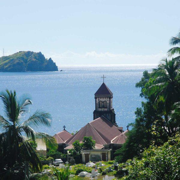 Dominique - Caraïbes - Église de Soufrière.