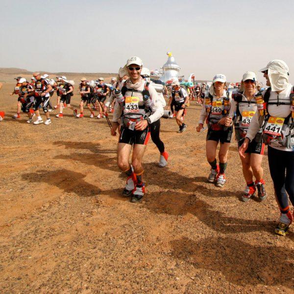Eric Balian - Directeur Général de Terre d'aventure - Départ du Marathon des Sables, au Maroc, en 2010