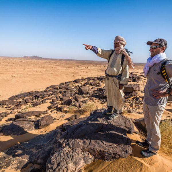 Eric Balian - Directeur Général de Terre d'aventure - En Mauritanie. Photo François Vannière