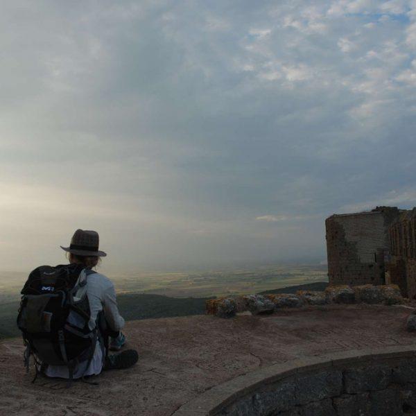 Espagne - Costa Brava - Coucher de soleil depuis le chateau du massif de Montgrì.