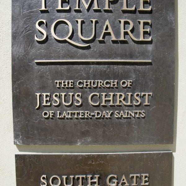 Etats-unis - Salt Lake City - L'entrée de Temple Square, siège de La LDS Church