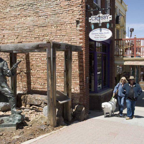 Etats-unis - Salt Lake City - Une rue de Park City, ex-ville minière devenue station chic