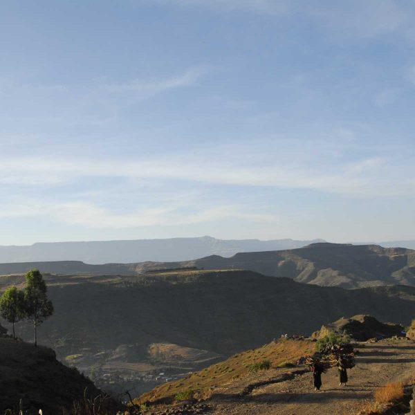 Ethiopie - Lalibela est située dans les monts au nord de l'Éthiopie à 2600 mètres d'altitude.