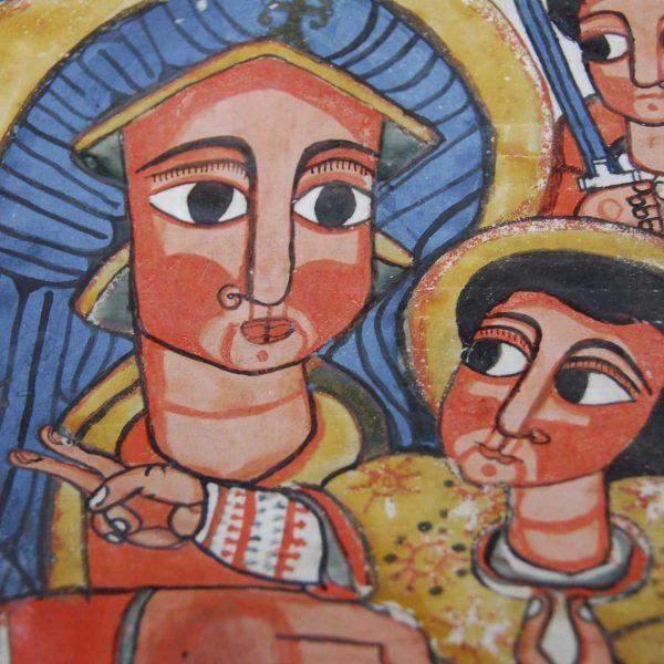 Ethiopie - Lalibela - Icône de la Vierge à l'enfant.