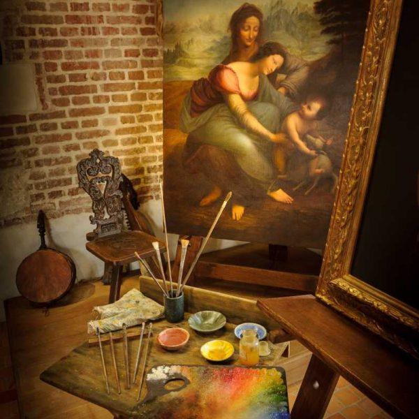 France - Clos-Lucé - Vinci - Dans l'atelier de l'artiste, la Sainte-Anne