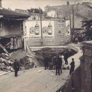 France - Paris - Catacombes - Effondrement d'une rue de Malakoff en juillet 1929.
