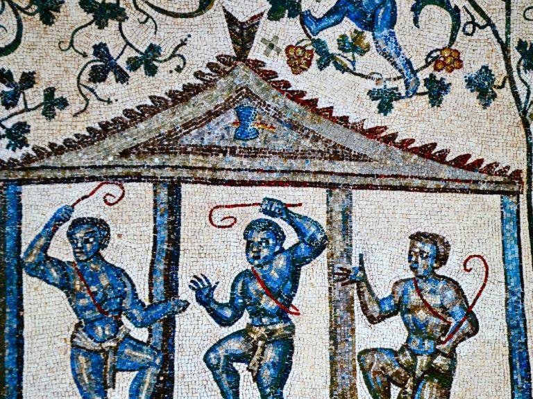 Histoire vin mosaïque S. Constanza-rome