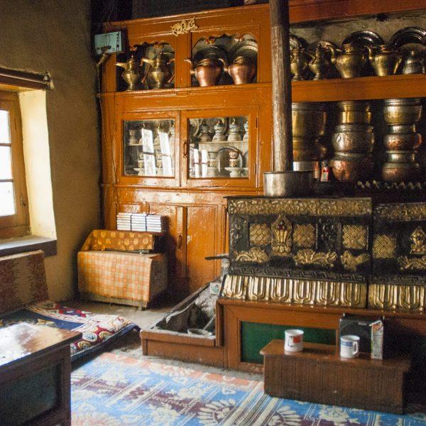 Collection de bouilloires à la Tarchok Guesthouse de Rumback