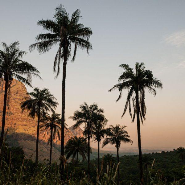 Coucher de soleil sur les falaises de Doughéa