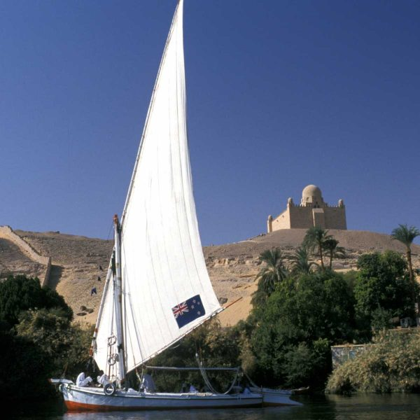 Nubie - Le mausolée de l'Aga Khan, sur les rives du Nil à Assouan