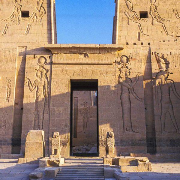Nubie - Façade du temple de Philae, dédié à Isis.