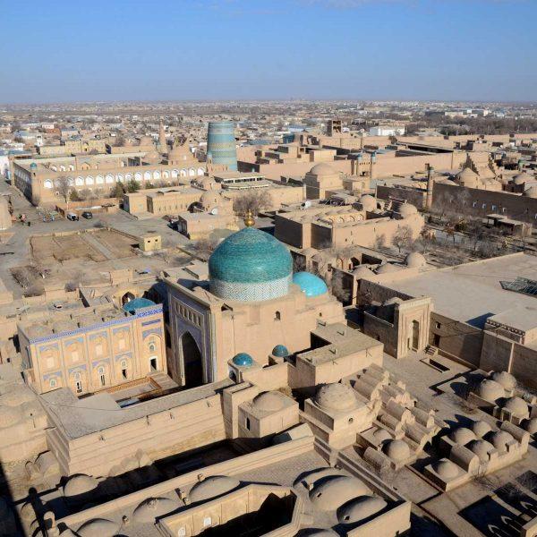 Ouzbekistan - Les toits de l'ancienne cité caravanière de Khiva