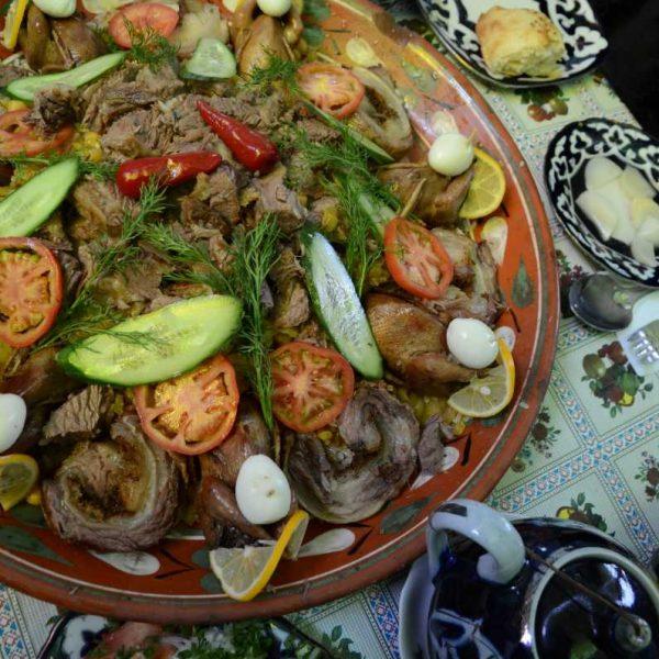 Ouzbekistan - Les cailles farcies, spécialité du restaurant Anhor à Samarcande