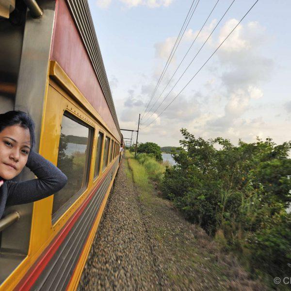 Panama - A bord du Panama Canal Railway, qui relie Panama City à Colon.