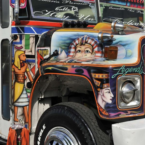 Panama - Un Diablo Rojo, les bus traditionnels.